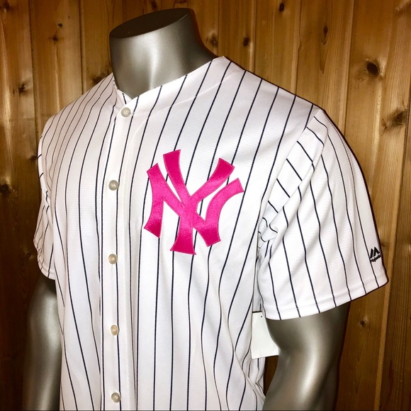 the best attitude 498be 5fbe4 NWT Majestic New York Yankees Breast Cancer Jersey